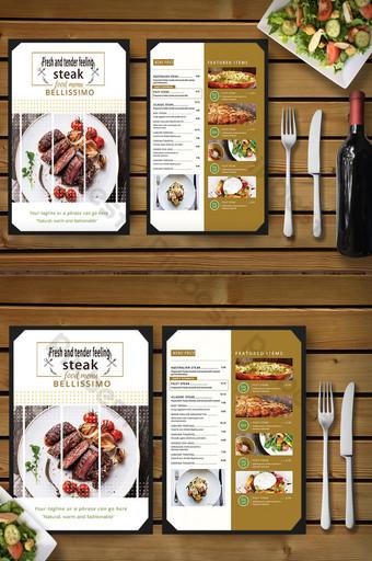 Recettes créatives de menu de cuisine occidentale européenne Modèle PSD