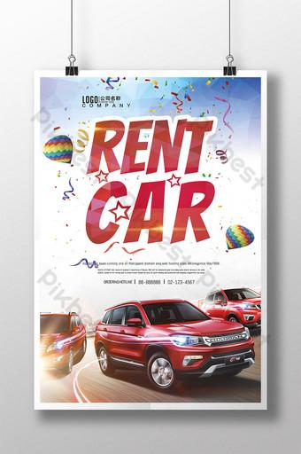 servicio de alquiler de coches coche usado cartel Modelo PSD
