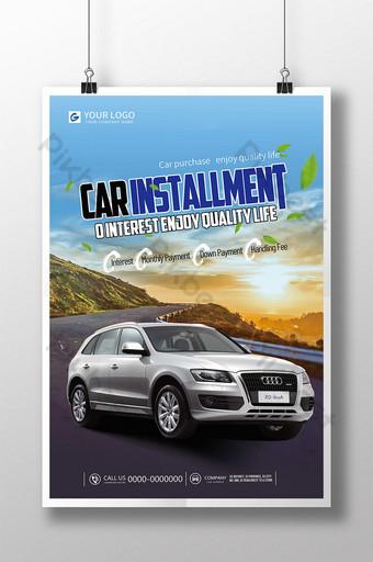 Poster quảng cáo xe ô tô trả góp Bản mẫu PSD