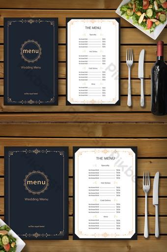 Modèle de promotion de conception de menu de recette de restaurant d'hôtel haut de gamme Modèle PSD