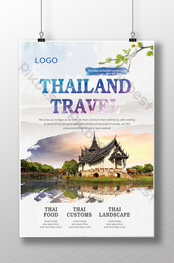 Nie bądź tajski 囧 musisz cześć tajlandia podróżujący plakat w stylu chińskim Szablon PSD