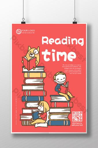 Lire la suite lire de bons livres tableau d'affichage de la journée de lecture de la bibliothèque scolaire Modèle AI