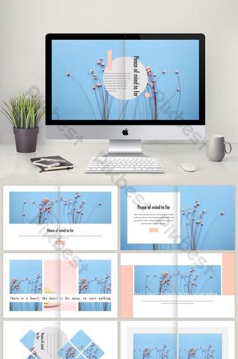 Maliit na sariwang template ng template ng style na magazine PowerPoint Template PPTX
