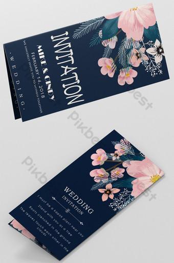 Carte d'invitation de mariage simple et belle Modèle PSD
