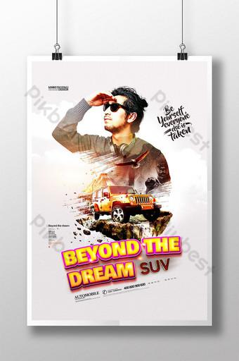 poster suv kreatif mobil off road Templat PSD