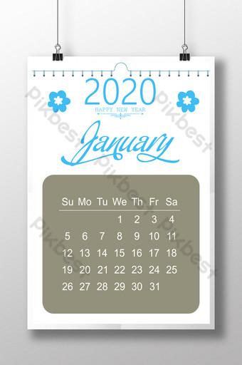 Conception de calendrier 2020 Modèle PSD
