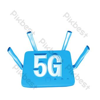 5g無線網絡 元素 模板 C4D