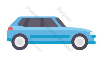 mobil off road biru Elemen Grafis Templat PSD