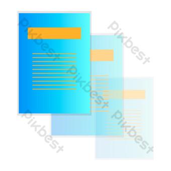 彩色辦公信息紙,無圖紙 元素 模板 PSD