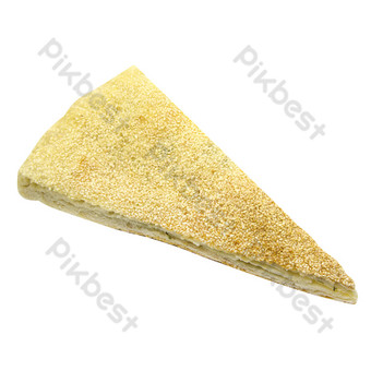 A piece of sesame cake PNG Images Template RAW