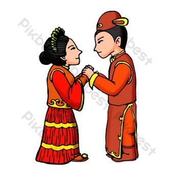無聲的看中式婚禮 元素 模板 PSD