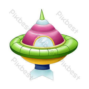 ilustración de nave espacial tripulada aeroespacial Elementos graficos Modelo PSD