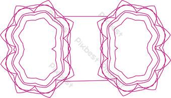 ai arco decoración vector patrón rosa Elementos graficos Modelo AI