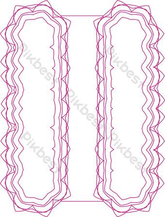 ai arco rosa vector patrón decorativo Elementos graficos Modelo AI