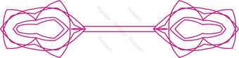 patrón de decoración de arco decorativo vector rosa ai Elementos graficos Modelo AI