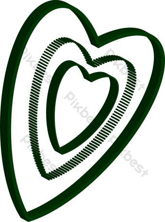 منظمة العفو الدولية ناقلات الأسود شكل قلب تكرار نمط الديكور صور PNG قالب AI