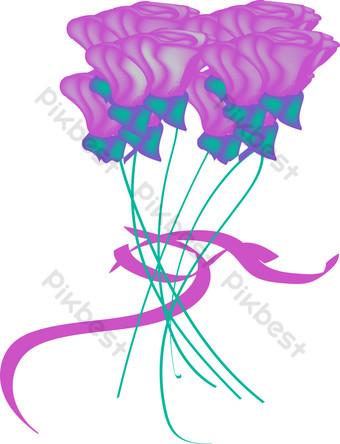ai vector de dibujos animados flor rosa Elementos graficos Modelo AI