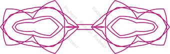ai vector patrón decorativo arco rosa Elementos graficos Modelo AI