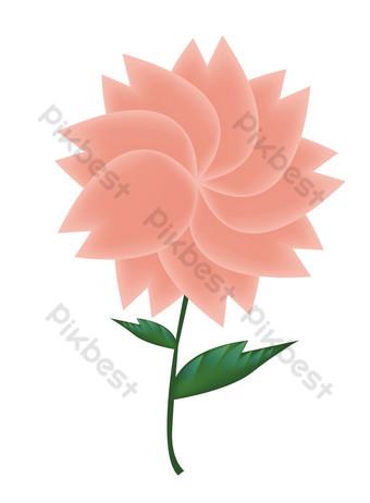 ai vector rosa flores decorativas Elementos graficos Modelo AI