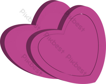 ai vector rosa forma de corazón dibujos animados patrón plano deco Elementos graficos Modelo AI