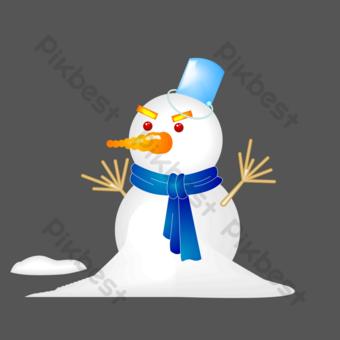 ai vector invierno muñeco de nieve Elementos graficos Modelo AI