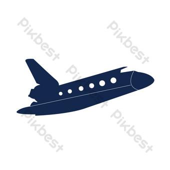 vector de silueta de avion Elementos graficos Modelo AI