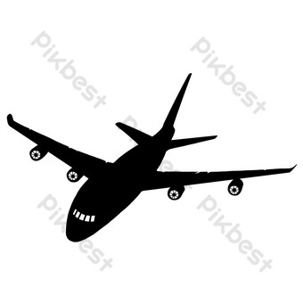 silueta de avion Elementos graficos Modelo PSD