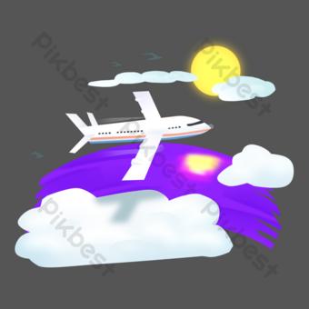 السفر بالطائرة النقل صور PNG قالب PSD