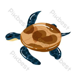 tortuga marina acuática Elementos graficos Modelo PSD