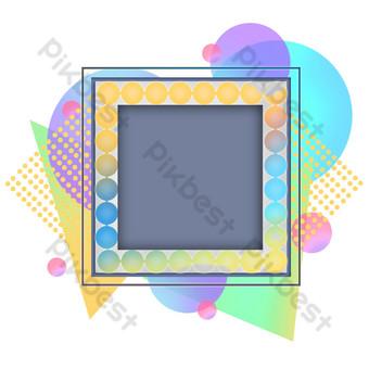 borde de código qr de color artístico Elementos graficos Modelo PSD