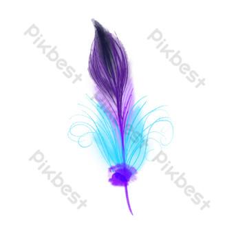 hermosa ilustración de plumas moradas Elementos graficos Modelo PSD