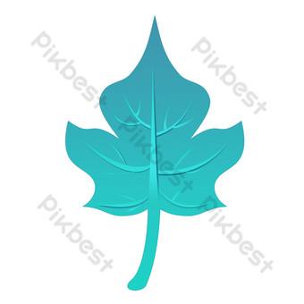 красивые листья свободный вырез Графические элементы шаблон PSD