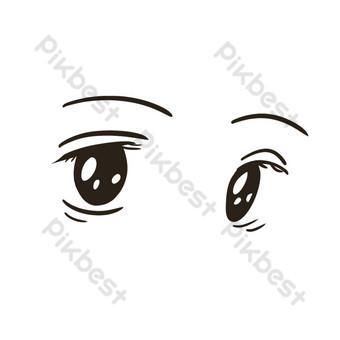 大眼睛和五官 元素 模板 PSD