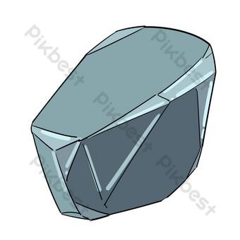 التوضيح الحجر الرمادي الكبير صور PNG قالب PSD