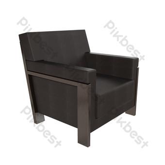 أريكة جلدية سوداء صور PNG قالب PSD