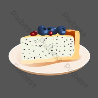 Black sesame fruit cake PNG Images Template PSD