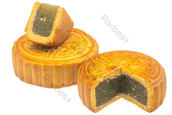 Black sesame moon cake food PNG Images Template RAW