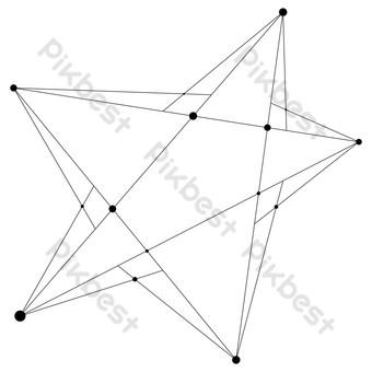 黑色科技五星級設計 元素 模板 AI