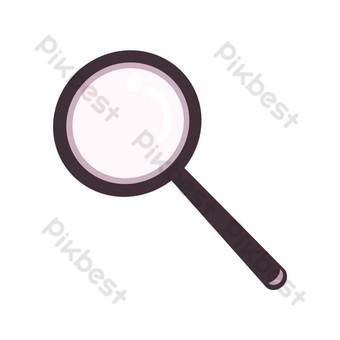 黑色文字放大鏡圖 元素 模板 PSD