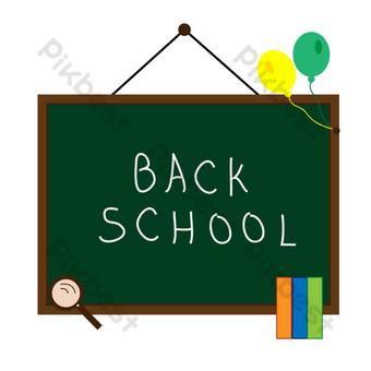 Blackboard school classroom September opening season PNG Images Template AI