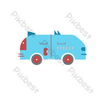 icono de vector de camión grande azul icono de camión plano Elementos graficos Modelo AI