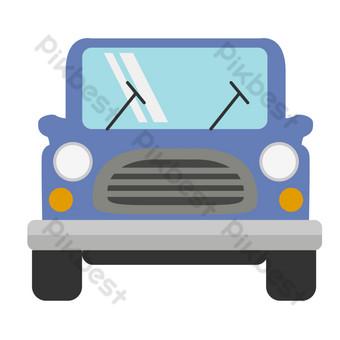 mobil biru kendaraan off road Elemen Grafis Templat PSD