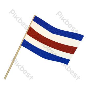 синий флаг свободный вырез Графические элементы шаблон PSD