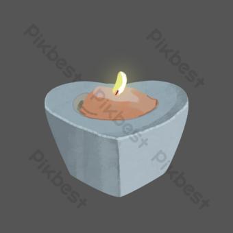 شمعة على شكل قلب أزرق شمعة معطرة التوضيح صور PNG قالب PSD