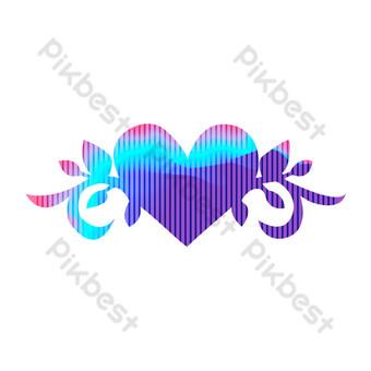 رمز القلب الأزرق الإبداعي صور PNG قالب AI