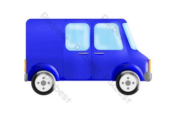 ilustrasi mobil off road biru Elemen Grafis Templat PSD