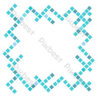 синий узор свободный вырез Графические элементы шаблон PSD