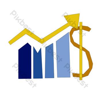 ilustración de gráfico de escala ascendente azul Elementos graficos Modelo PSD