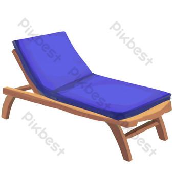 藍色柔軟午睡椅 元素 模板 PSD