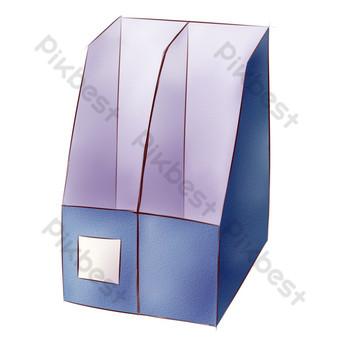 藍色立體儲物盒圖 元素 模板 PSD